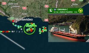 AIS coverage Montevideo