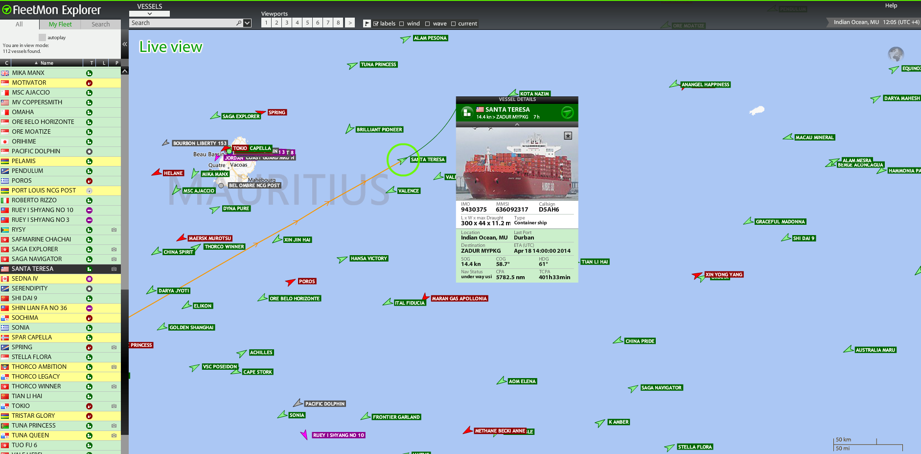 FMX - All vessels, all tracks, all voyage details globally
