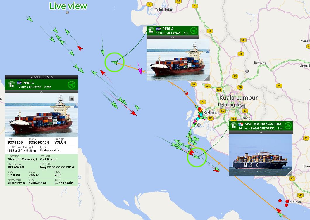 Personal Satellite Tracker >> Port Klang covered by AIS | Blog - Inside FleetMon