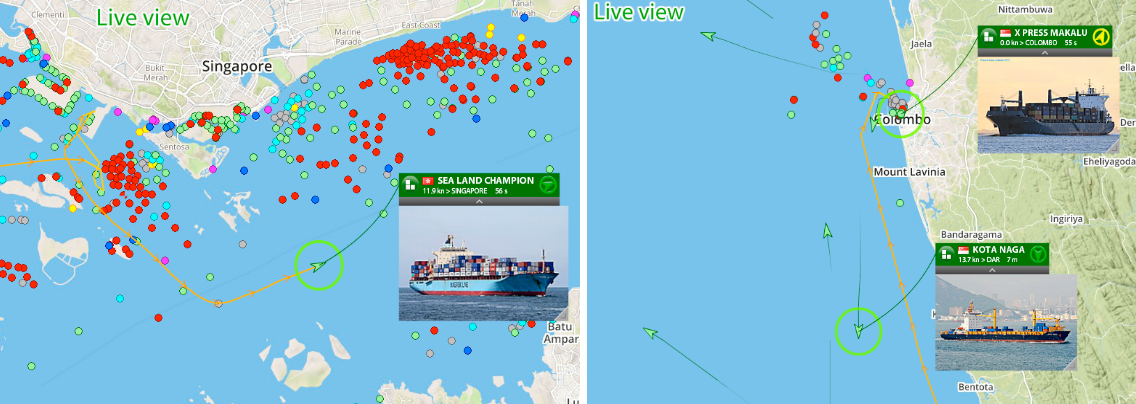 One of the most current eye catchers are mobile AIS stations traveling the Indian Ocean and collecting AIS in ports like Singapore, Calcutta and Colombo during their voyages