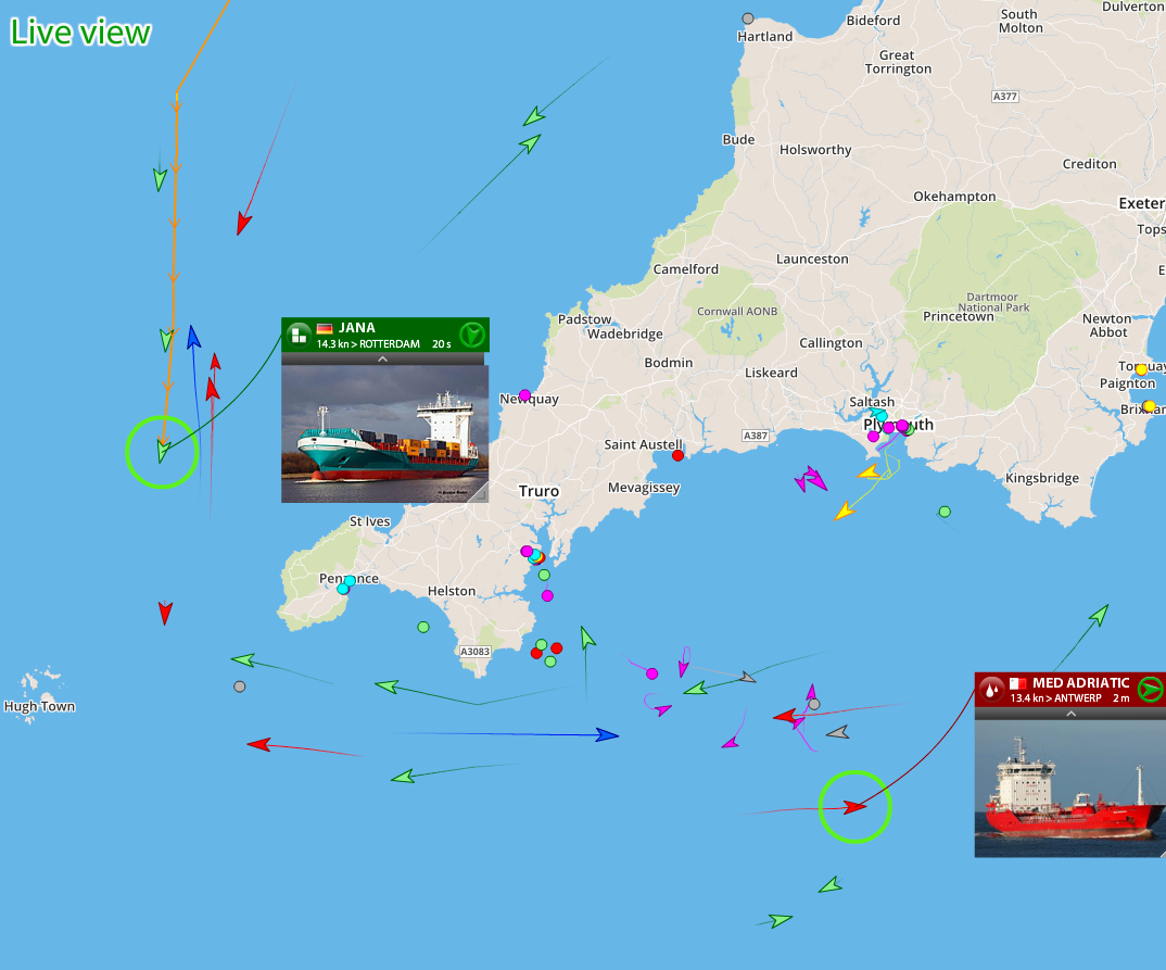 Check out what is happening on the English Channel