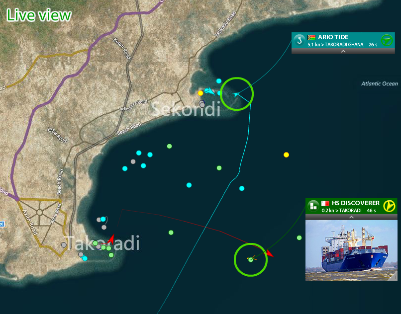 Real-time vessel tracking for the ports of Western Africa -  Takoradi and Sekondi